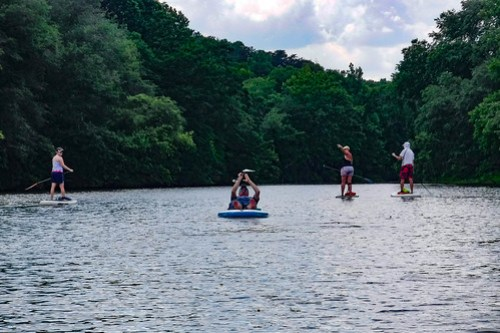 Kayaking and SUP on Saluda Lake-15