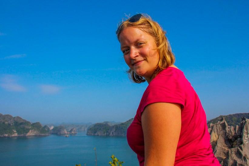 Fra toppen af Monkey Island - trekking på mit cruise i Halong Bay