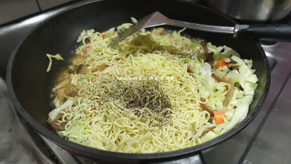 蔬菜菌菇多 素炒麵 (5)
