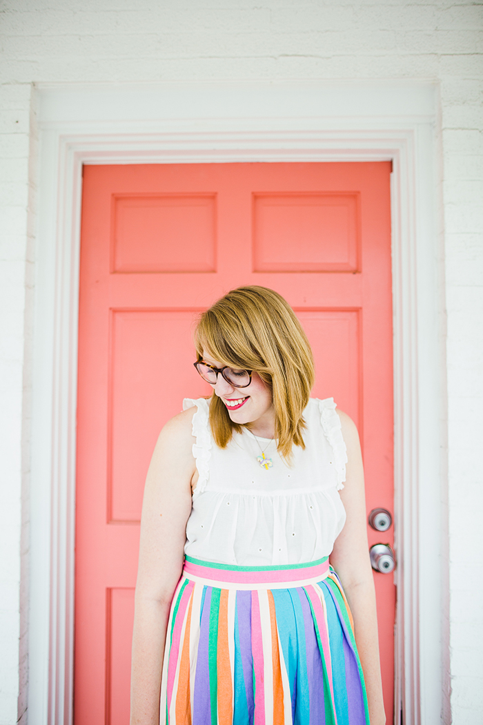 candy colored outfit