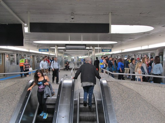 Rosemont CTA Station Platform