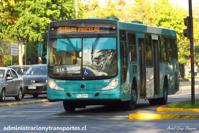 Transantiago | Metbus - 516 | Caio Mondego H 13.2 - Mercedes Benz / FLXH80 (Biportal - 4 Puertas)