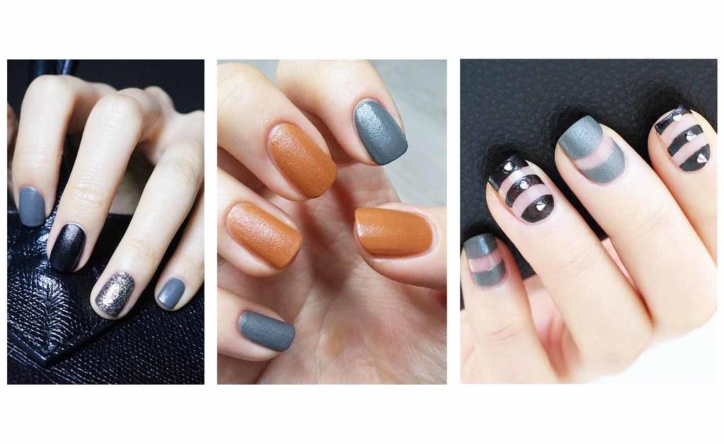 ♥ 指甲換季風潮!秋冬感十足的皮革凝膠指甲 1