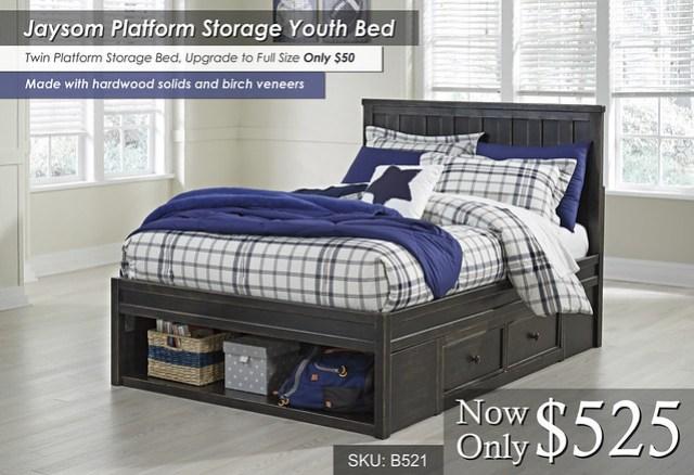 Jaysom Platform Storage Youth Bed