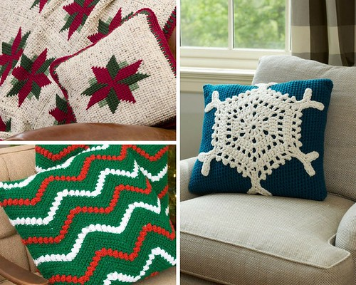 Redheart Free Christmas Pillow Patterns