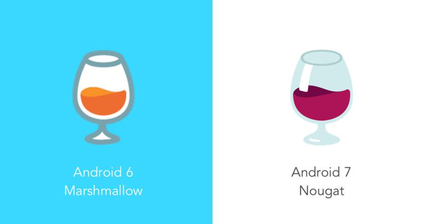 emoji android wine