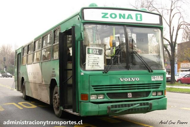 Transantiago | Comercial Nueva Milenio (Vule) | Busscar Urbanus - Volvo B10M / TK1779