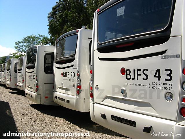 Transantiago - Buses Vule - Caio Mondego H / Mercedes Benz (BJFS43) (BJFS20) (BJFS30)