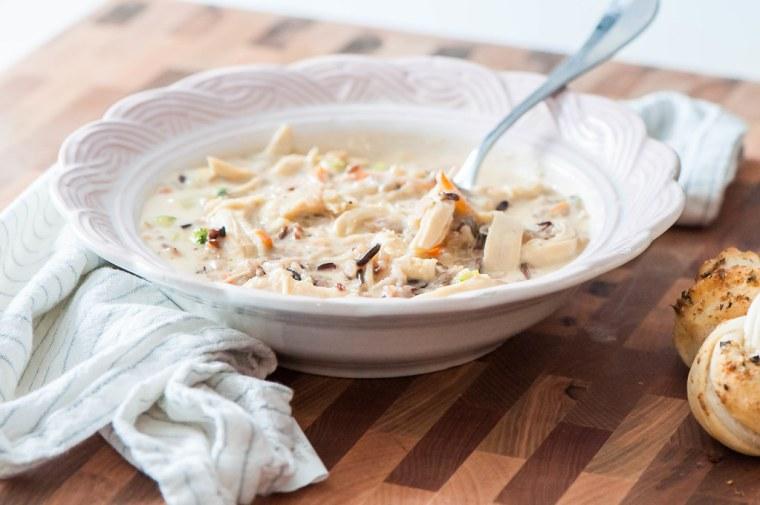 Cheesy Chicken Wild Rice Soup 3