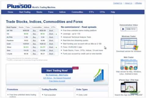 web trader plus500