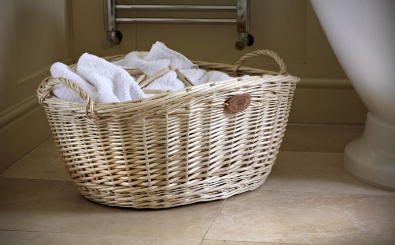Willow Washing Basket Products Somerset Willow England
