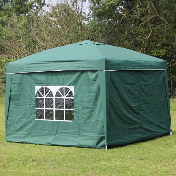 10 X Palm Springs Ez Pop Canopy Gazebo Tent With 4 Side Walls