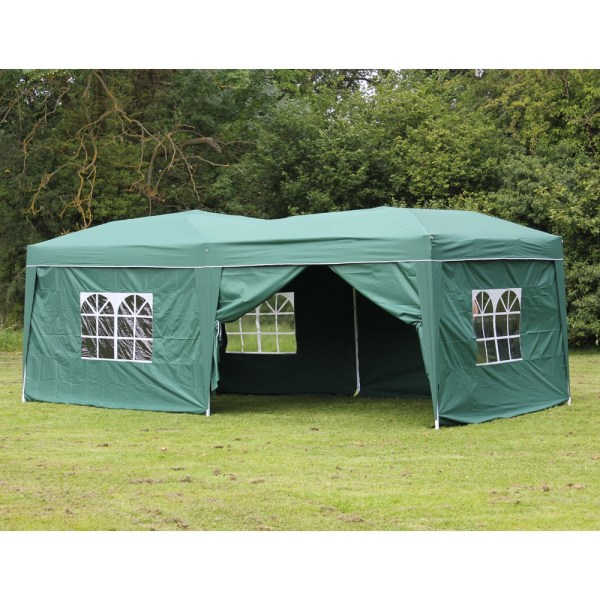 10 X 20 Palm Springs Pop Canopy Gazebo Party Tent With 6 Side Walls