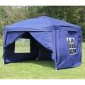Palm springs ez pop up canopy gazebo tent with 4 side walls new ebay