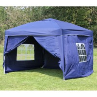 10 x 10 PALM SPRINGS EZ POP UP CANOPY GAZEBO TENT WITH 4 ...