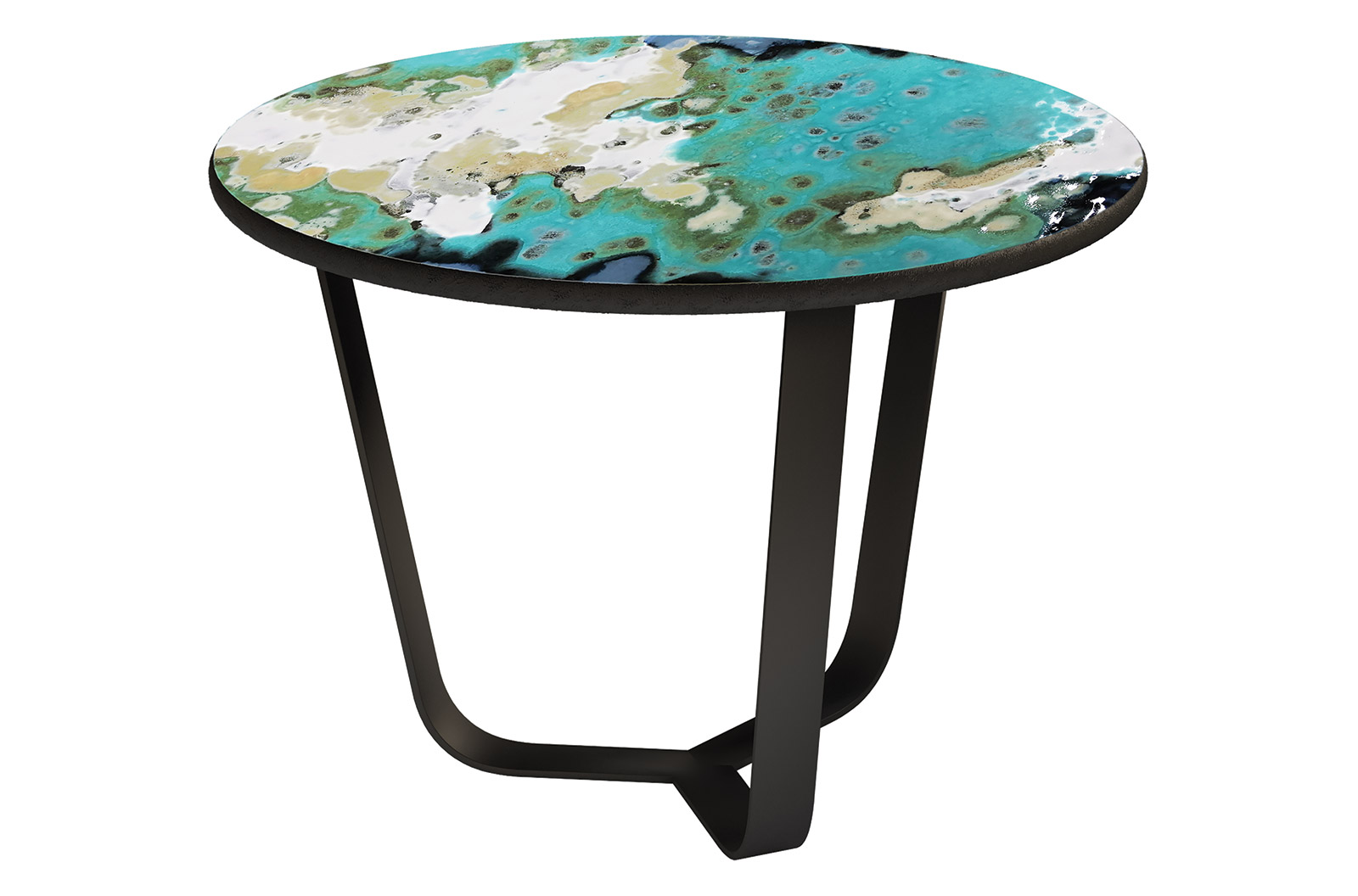 etna round coffee table small
