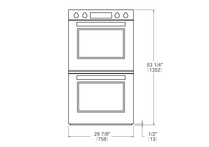 30 Double Electric Convection Oven Self-Clean with