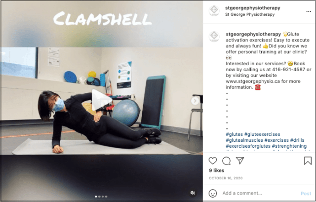 St. George Physiotherapy Instagram video