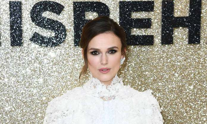 Keira Knightley stuns in lace Chanel dress at the premiere of her new film | HELLO!