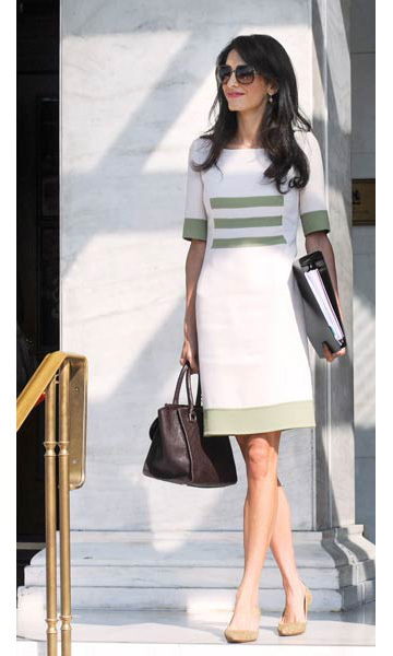Newlywed Amal Alamuddin Clooney is stylish as ever in Greece