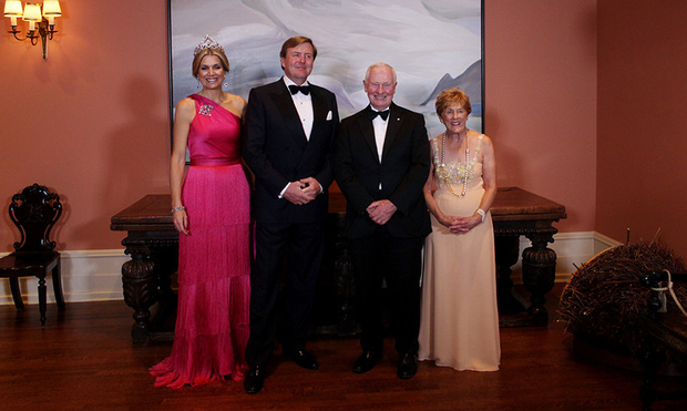 Queen Mxima dazzles in fuchsia at State Dinner in Canada