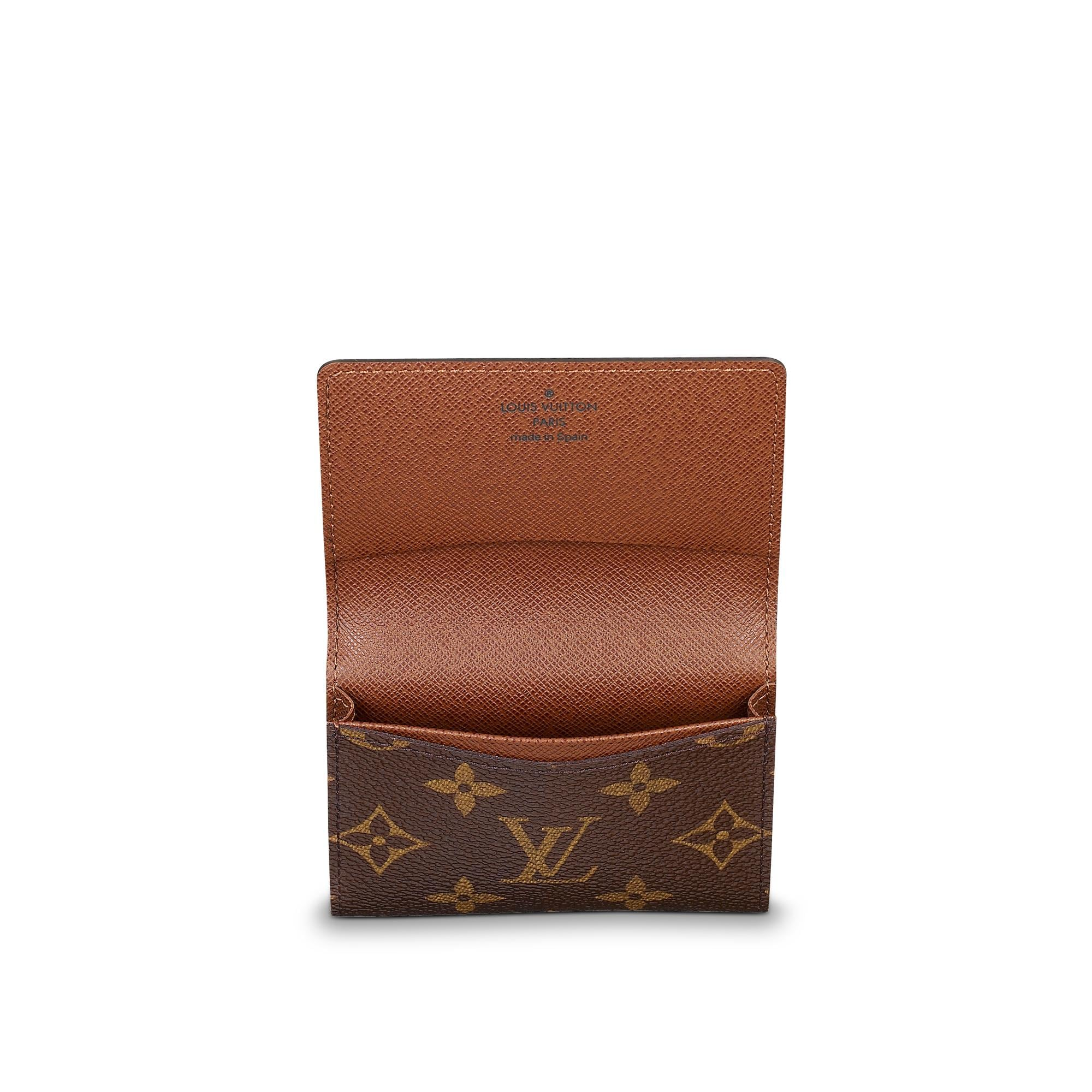 Business Card Holder Monogram  SMALL LEATHER GOODS  LOUIS VUITTON