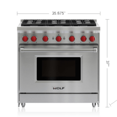 Kitchen Stove Gas Restain Cabinets 36 In Range Six Burners Convection Oven Wolf Appliance Specifications And Downloads
