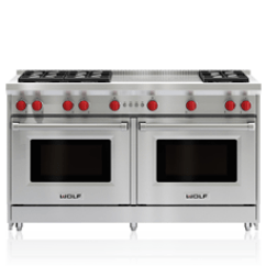 Wolf Kitchen Ranges Builders Surplus & Bath Cabinets Gas Appliances 60 Range 6 Burners And French Top