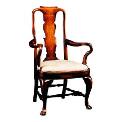 Queen Anne Style Chairs Harvest Table Custom Made Antique Furniture Victor Hall Sons Antiques Mahogany Chair