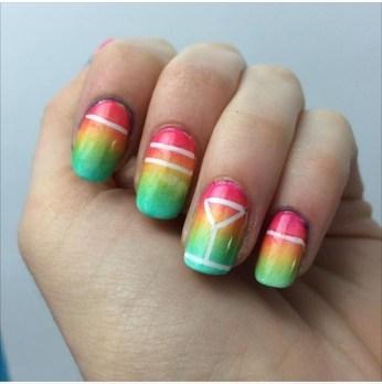 nail art gradient cocktail