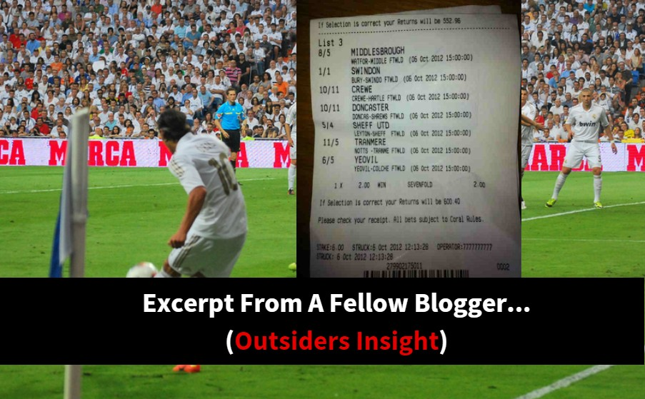 Excerpt from a fellow blogger.. outsiders insight