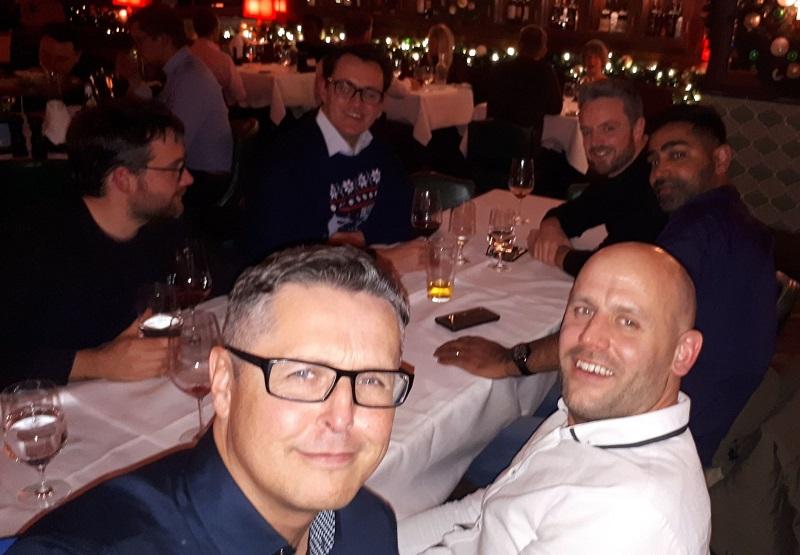 Mark Iverson Caan Berry Table Selfie