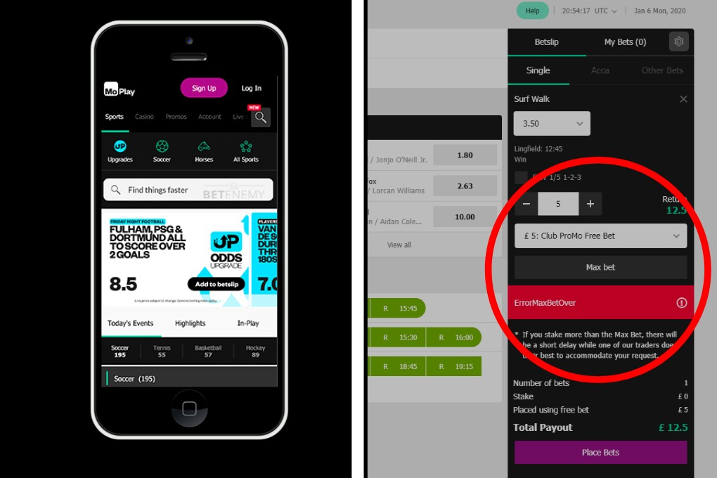 MoPlay Betting Review Mobile Phone