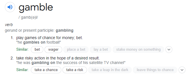 gambling definition