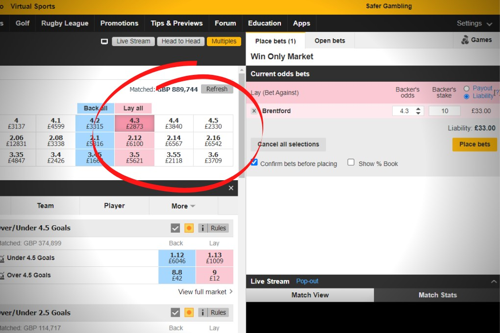 lay betting explained