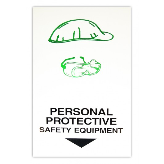 Personal Safety Equipment Here Card