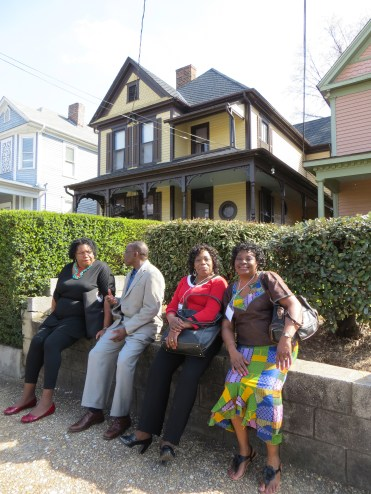 CAAR 2013 convener Dr. Violet Johnson (far right) in front of MLK's birth home.