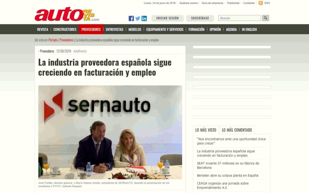 La industria auxiliar de automoción española sigue creciendo en facturación y empleo