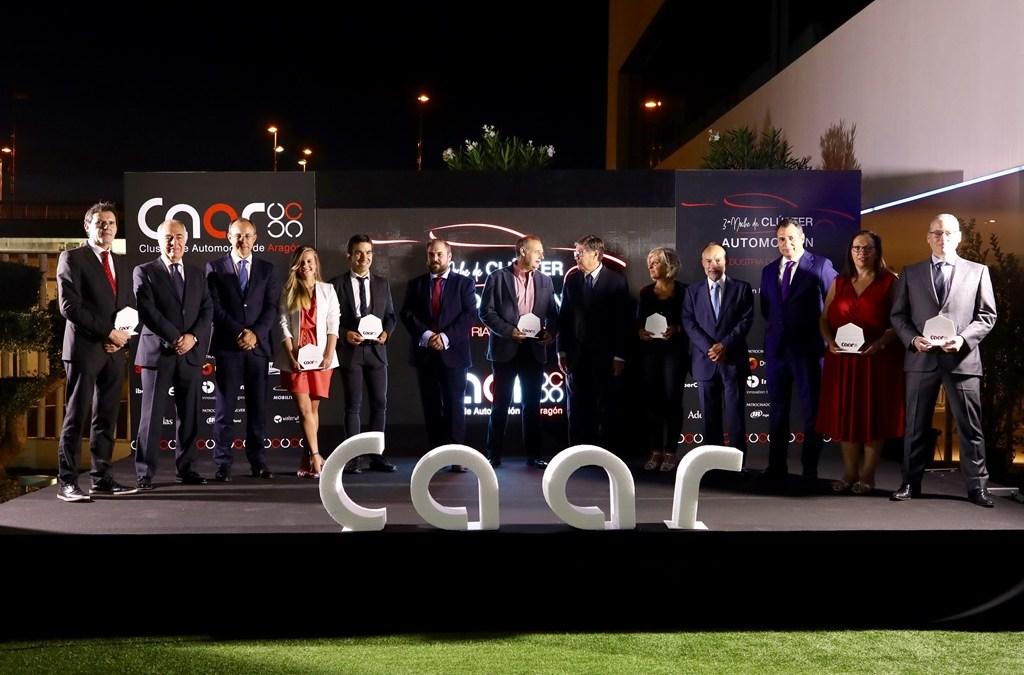 TechnoPark MotorLand, Brembo, Enganches Aragón, AiTIIP Centro Tecnológico y Linde Wiemann, empresas premiadas en la III Noche del Clúster de Automoción de Aragón