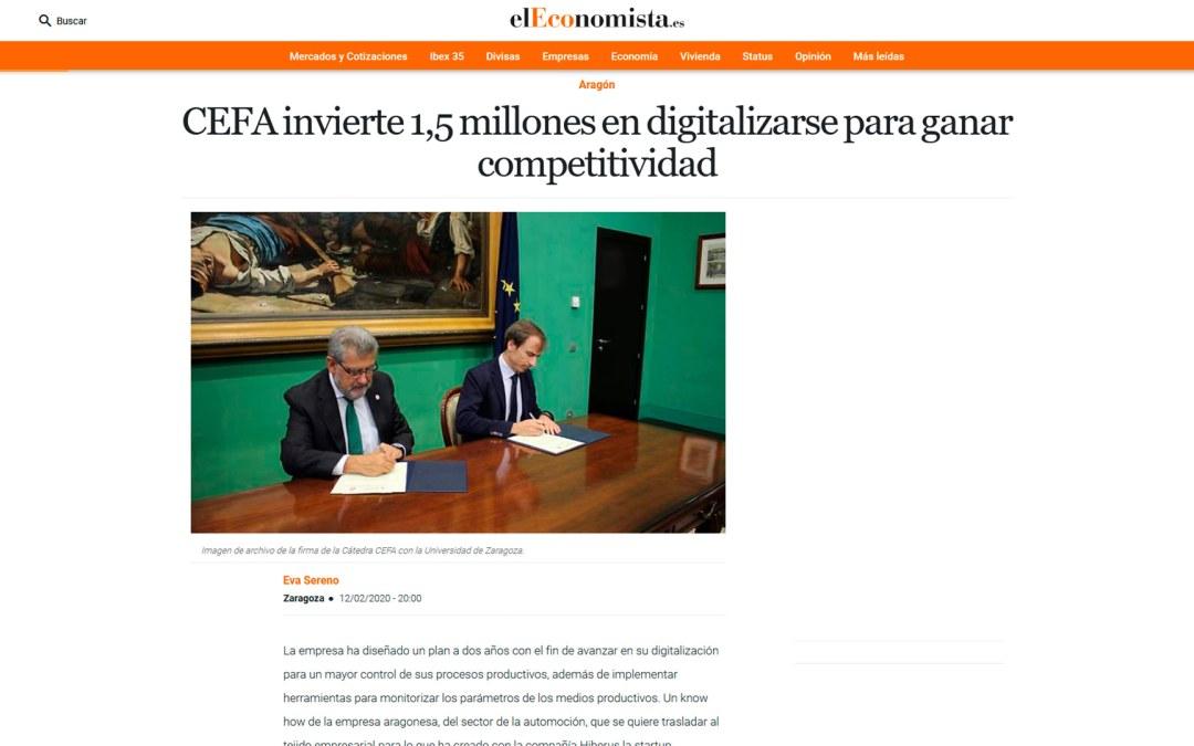 CEFA invierte 1,5 millones en digitalizarse para ganar competitividad