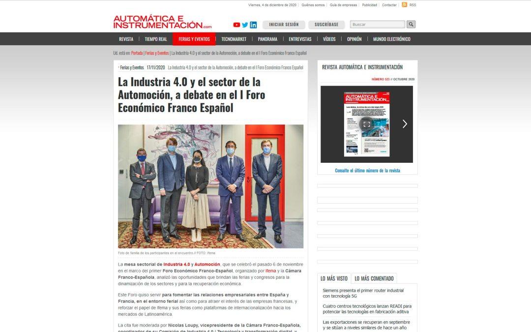 La Industria 4.0 y el sector de la automoción, a debate en el I Foro Económico Franco-Español