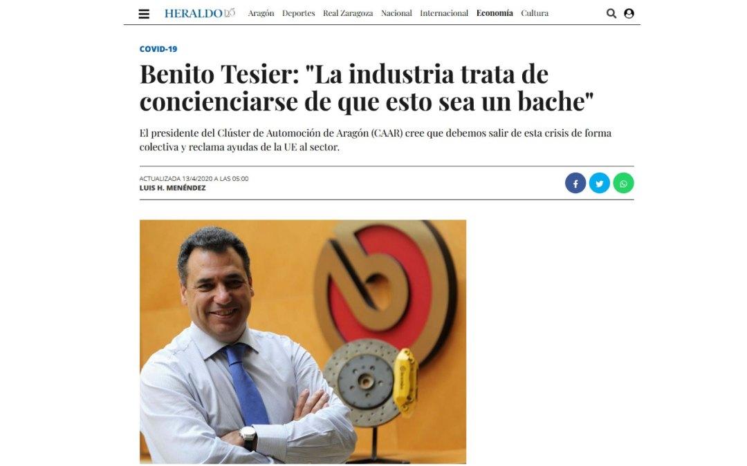 """Benito Tesier: """"La industria trata de concienciarse de que esto sea un bache"""""""
