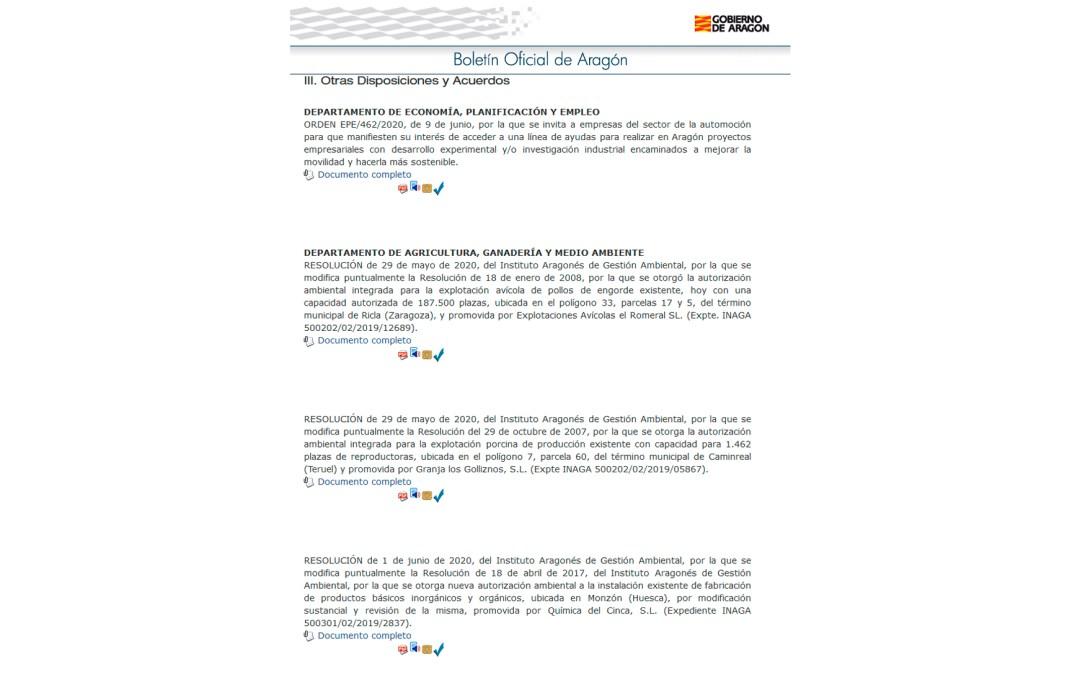 Publicada en el Boletín Oficial de Aragón la manifestación de interés previa a las ayudas a la I+D aplicada a la automoción