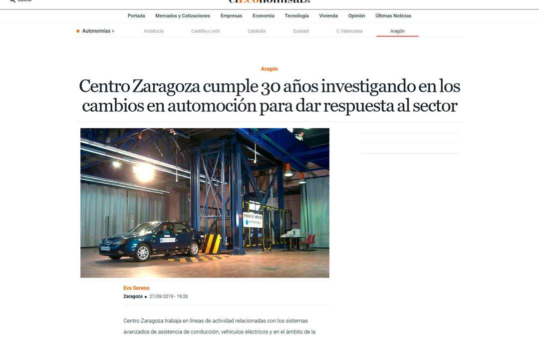 Centro Zaragoza cumple 30 años investigando en los cambios en automoción para dar respuesta al sector