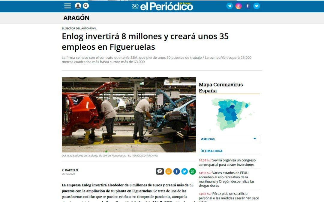 Enlog invertirá 8 millones y creará unos 35 empleos en Figueruelas