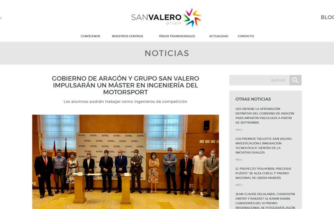 Gobierno de Aragón y Grupo San Valero impulsarán un Máster en Ingeniería del Motorsport