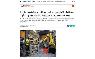 La industria auxiliar del automóvil obtiene 348.714 euros en ayudas a la innovación