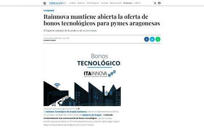Itainnova mantiene abierta la oferta de bonos tecnológicos para pymes aragonesas