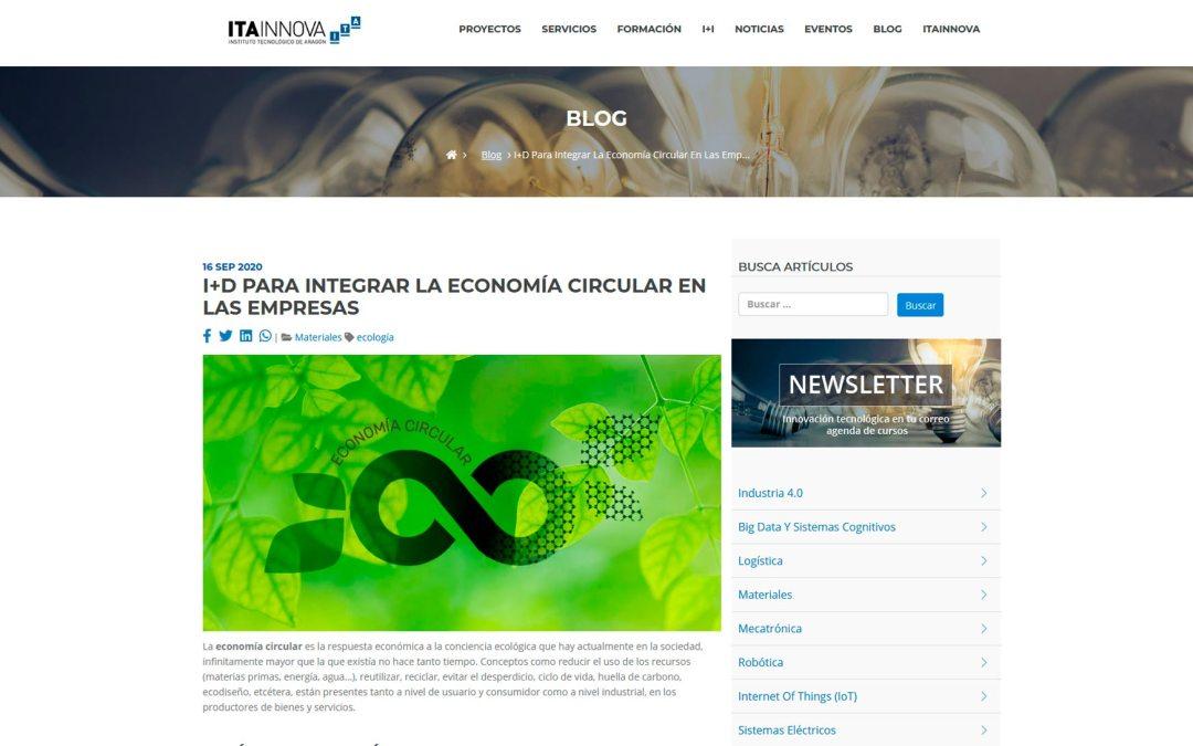 Itainnova organiza una jornada de I+D para integrar la economía circular en las empresas