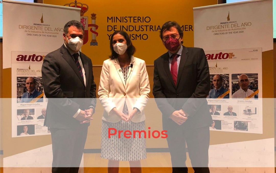 Benito Tesier y David Romeral asisten a la entrega de los Premios Dirigente del año 2020 de AutoRevista